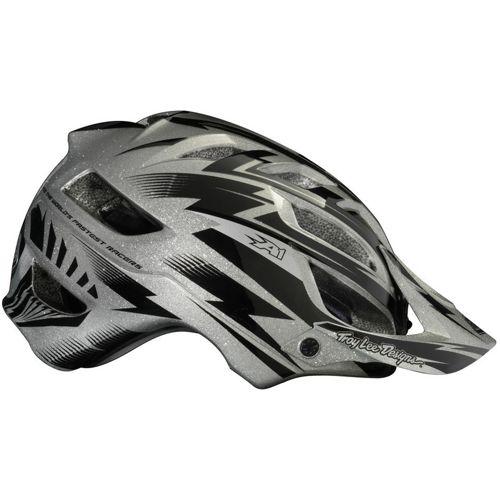 Picture of Troy Lee Designs A1 Helmet - Cyclops Silver Metal Flake
