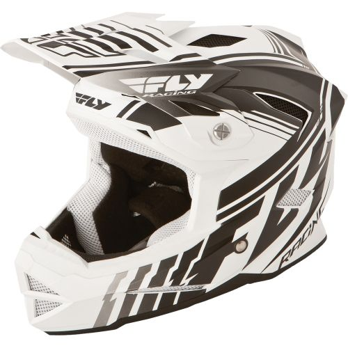 Picture of Fly Racing Default Youth Helmet - White - Black 2015