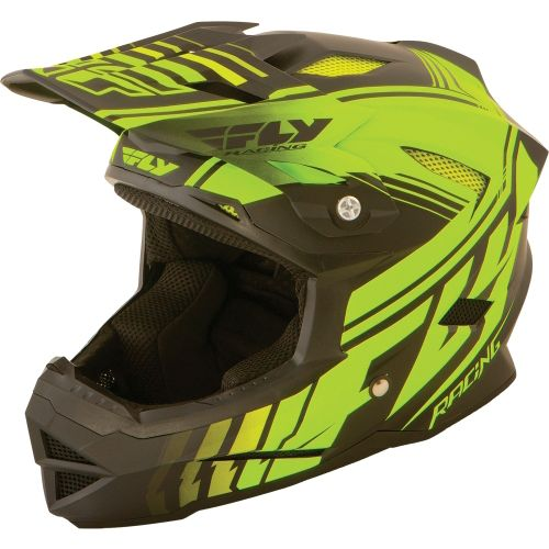 Picture of Fly Racing Default Youth Helmet - Neon Yellow Black 2015