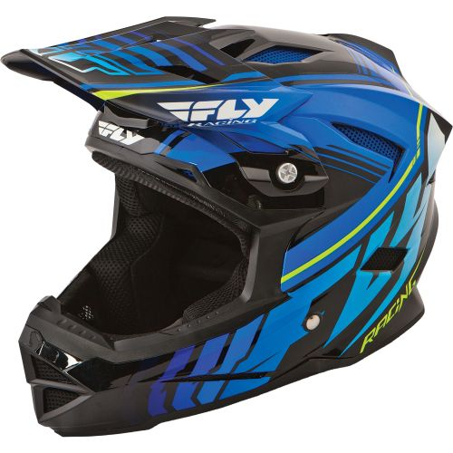 Picture of Fly Racing Default Youth Helmet - Black - Blue 2015