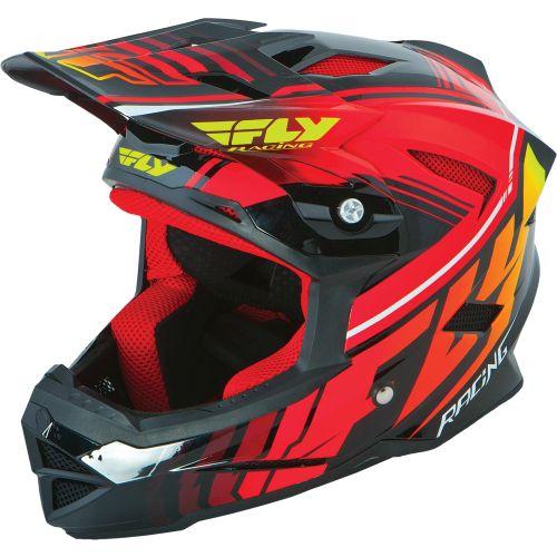 Picture of Fly Racing Default Helmet - Black - Red 2015
