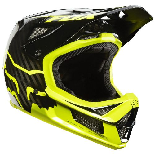 Picture of Fox Racing Rampage Pro Carbon Helmet - Black Yellow 2014