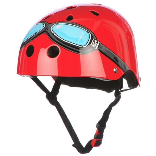 Picture of Kiddimoto Red Goggle Helmet