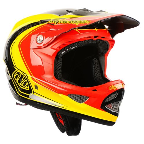 Picture of Troy Lee Designs D3 Carbon - Mirage Red-Yellow