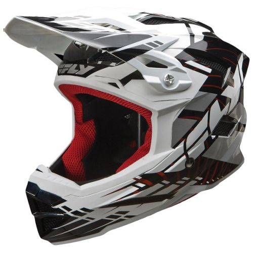 Picture of Fly Racing Default Youth Helmet - Black-White 2014