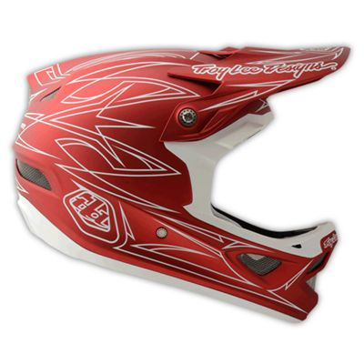 Casque composite Troy Lee Designs D3 - Pinstripe Red II