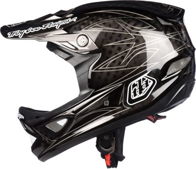 Casque carbone Troy Lee Designs D3 - Pinstripe Black II