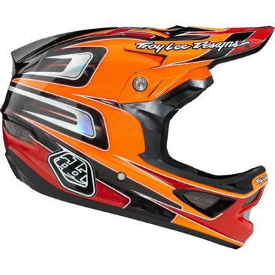 Casque carbone Troy Lee Designs D3 - Speed Orange - Orange