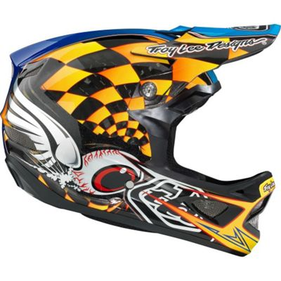 Casque carbone Troy Lee Designs D3 - Finishline Yellow - Jaune