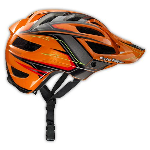 Casque Troy Lee Designs A1 Turbo Orange Orange 2014