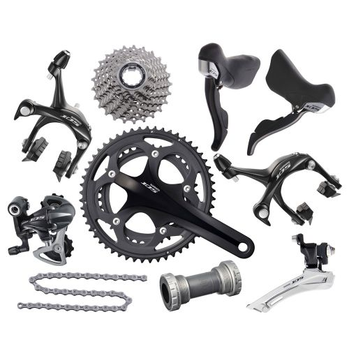 Shimano 105 5750 10 Speed Double Groupset | Chain Reaction Cycles