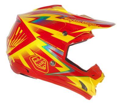 Casque Troy Lee Designs SE3 Cyclops Red - Jaune