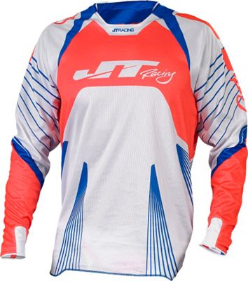 Maillot VTT JT Racing Subframe Protek Blanc/Rouge manches longues 2015