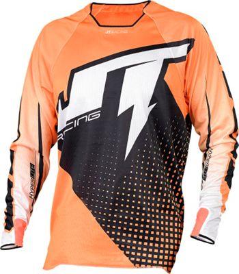 Maillot VTT JT Racing Voltage Hyperlite Noir/Orange manches longues 2015