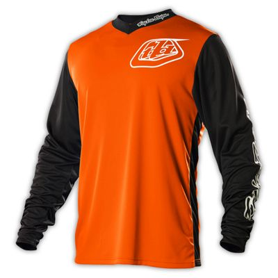 maillot vtt troy lee designs gp hot rod orange manches longues mtb check. Black Bedroom Furniture Sets. Home Design Ideas