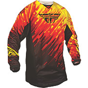 Fly Racing Kinetic Glitch Jersey - Red-Blk-Ylw 2015