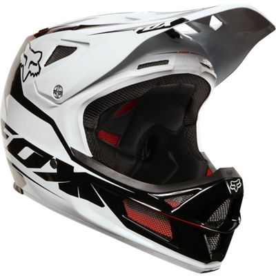 Casque intégral Fox Racing Rampage Pro Carbon- Blanc