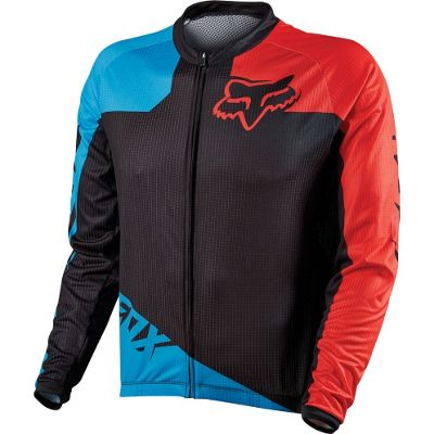 Maillot VTT Fox Racing Livewire Race Bleu/Rougemanches longues