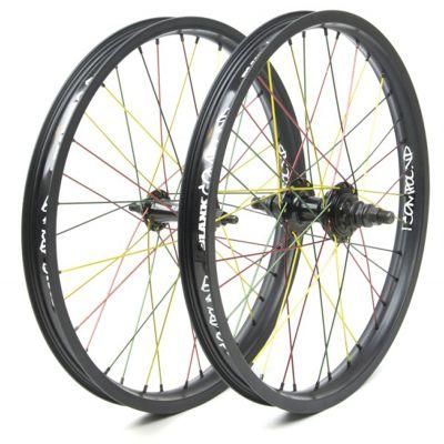 Paire de roues BMX Blank Compound 2 - Rasta