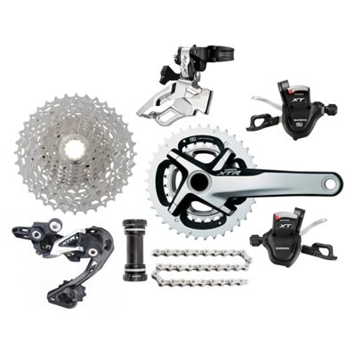 Groupe complet Shimano VTT XTR-XT M980 Double Transmission