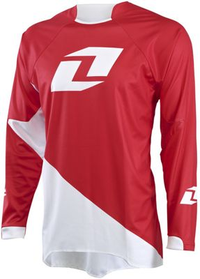 Maillot One Industries Gamma Solid à manches longues - Rouge/Blanc