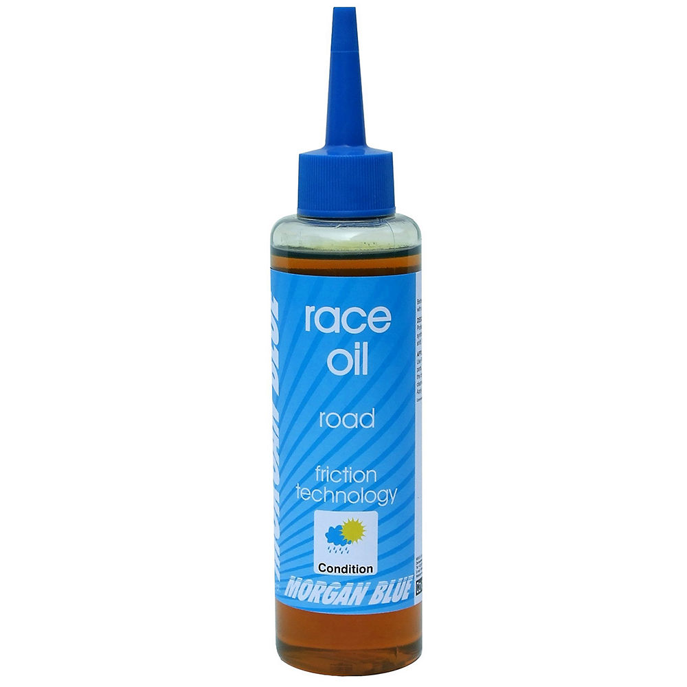 morgan-blue-race-oil-road