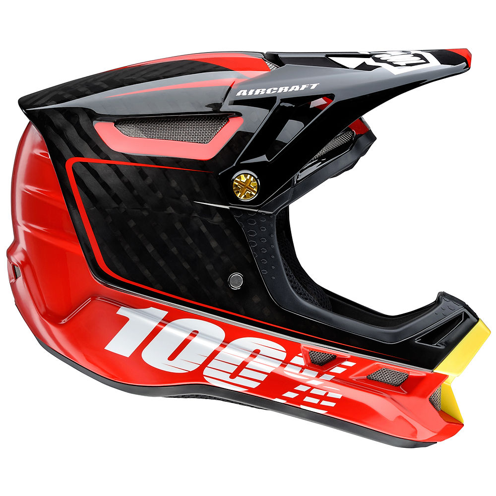 Image of 100% Aircraft Carbon DH Helmet - Bi-Turbo Red