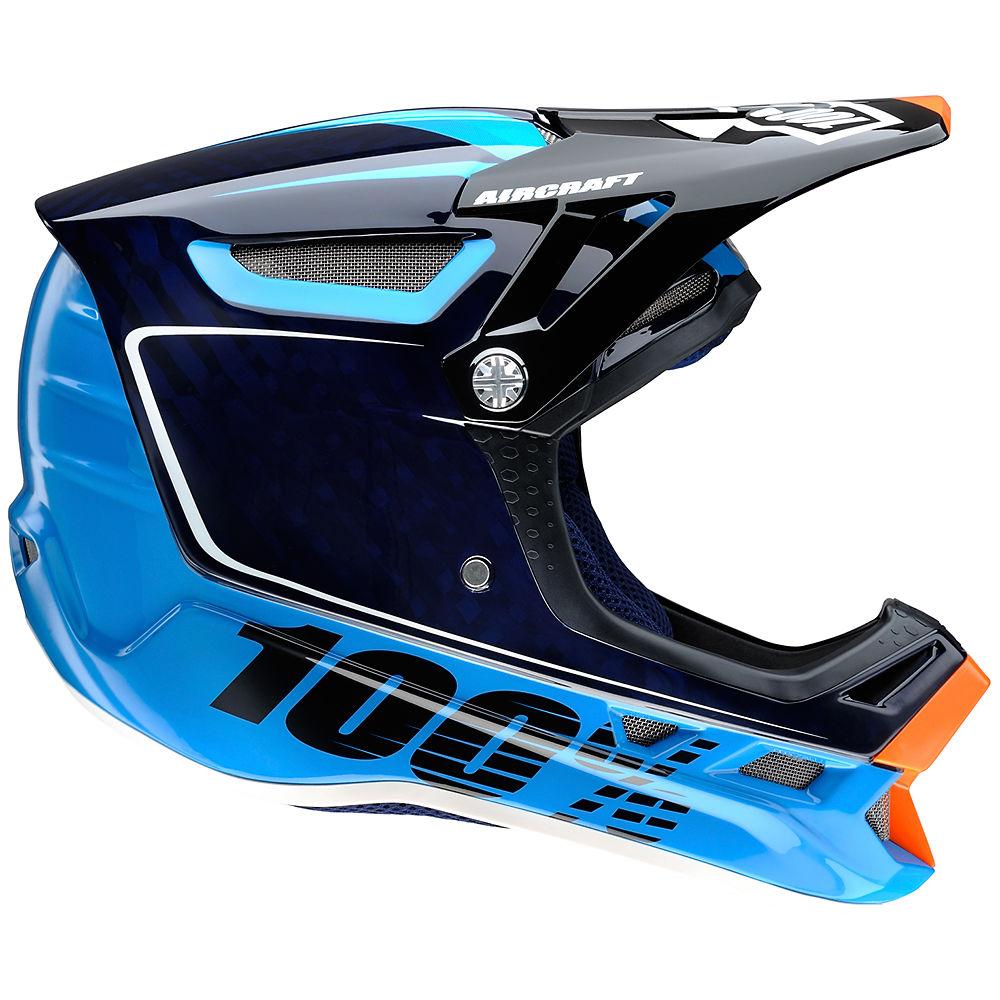 Image of 100% Aircraft Carbon DH Helmet - BiTurbo Blue