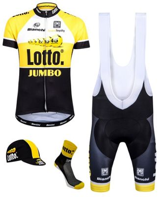 Kit maillot Santini Lotto Jumbo Team 2015