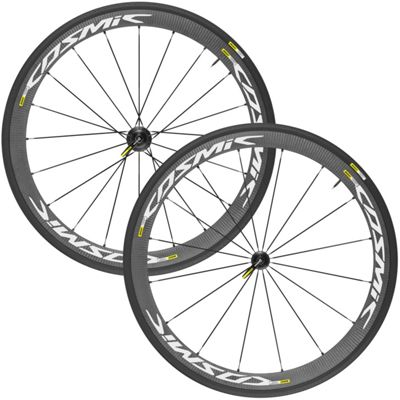 Roues route Mavic Cosmic Carbone 40 Elite 2016