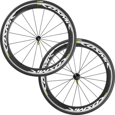 Roues route Mavic Cosmic Pro Carbone White 2017