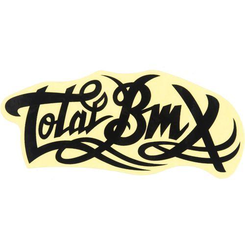 Total bmx logo sticker