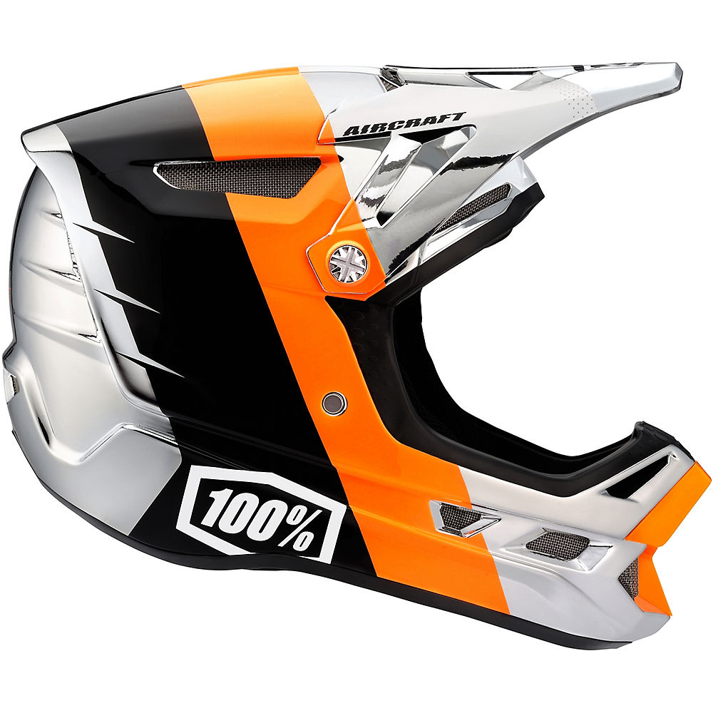 Image of 100% Aircraft Carbon DH Helmet - R8 Chrome