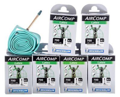 Chambre à air Michelin A1 AirComp Latex - Pack de 6
