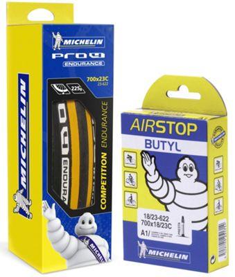 Pneu Michelin Pro4 ENDURANCE V2 Jaune + Chambre à air GRATUITE
