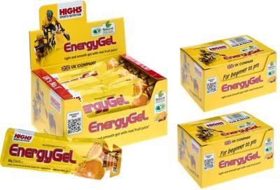 Gels énergétiques High5 - Pack de 3 boites - Jus d'orange