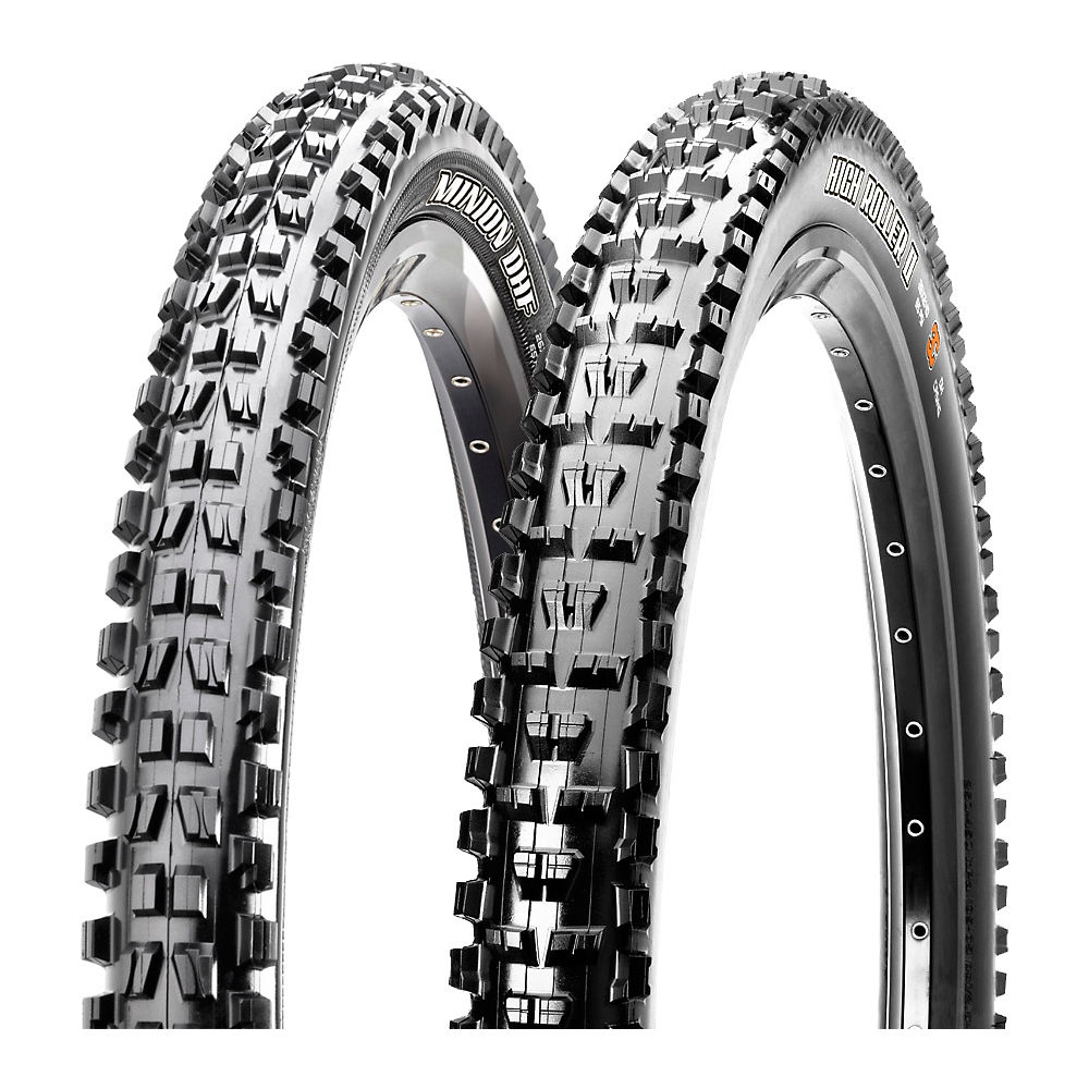 Combo de cubiertas Maxxis Minion DHF y High Roller II