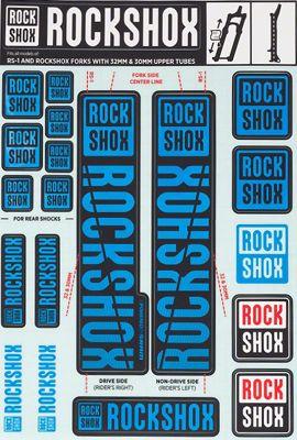 Kit autocollants RockShox (30 - 32mm)