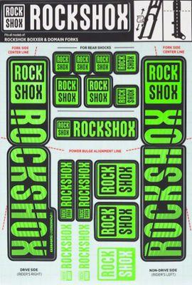 Kit autocollants RockShox (35mm - Dual Crown)
