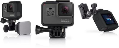 Fixation frontale et latérale de casque pour caméra GoPro