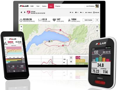 Compteur cycliste Polar V650 (avec cardiofréquencemètre H10) 2018