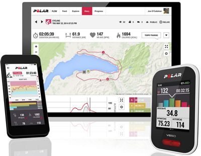 Compteur cycliste Polar V650 (avec cardiofréquencemètre OH1) 2018