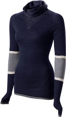 Haut cycliste FINDRA Marin Cowl Neck Stripe Femme