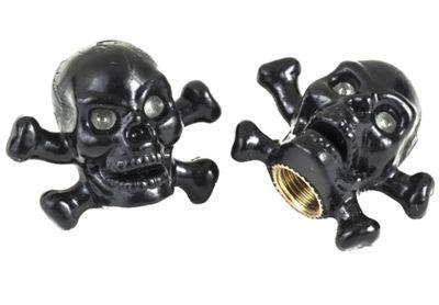Bouchons de valve Trik-Topz en forme de tête de mort et os croisés