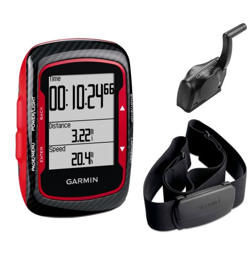 compteur gps rouge garmin edge 500 avec moniteur cardiaque et capteur de cadence chain. Black Bedroom Furniture Sets. Home Design Ideas