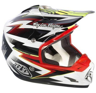 Casque Motocross Troy Lee Designs Se3 Cyclops Noirrouge Mtb