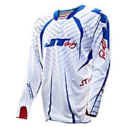 JT Racing Evo Protek Fader Jersey - Red-Wht-Blue 2013