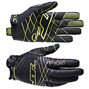 JT Racing Evo Lite Lazer Gloves - Black-Chartreuse 2013
