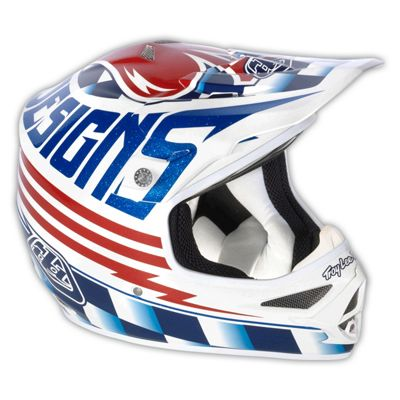 Casque motocross Troy Lee Designs Air- Ace Blanc