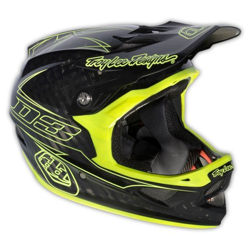 Troy Lee Designs D3 Carbon Pinstripe Yellow 2013 Chain